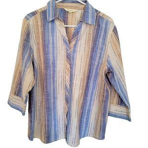 Women botton down Cotton blouse size 16